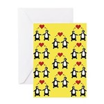 Penguins In Love Greeting Cards