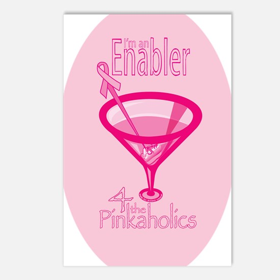 PinkaholicOval_sticker Postcards (Package of 8)