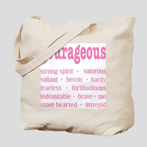 Courageous Breast Cancer Survivor Tote Bag