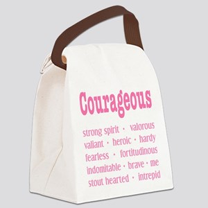 Courageous Breast Cancer Survivor Canvas Lunch Bag
