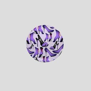 Purple High Heels Mini Button