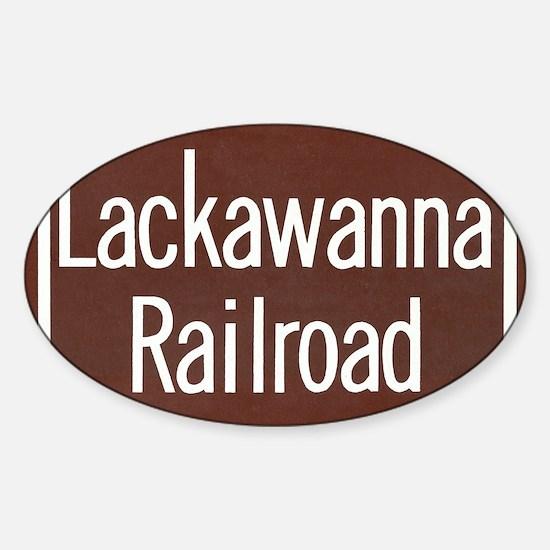 Lackawanna Railroad Sign Sticker (Oval)