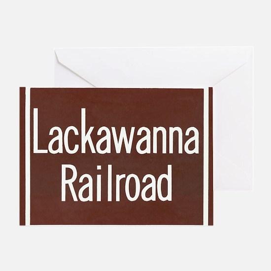 Lackawanna Railroad Sign Greeting Card