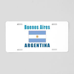 Buenos Aires Argentina Designs Aluminum License Pl