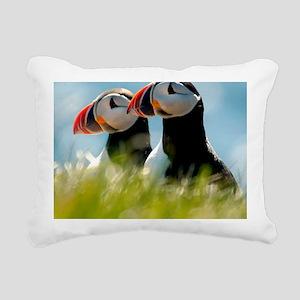 Puffin Pair 14x14 600 dp Rectangular Canvas Pillow