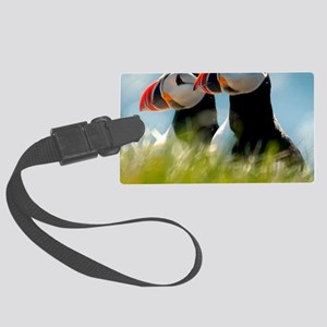Puffin Pair 14x14 600 dpi Large Luggage Tag
