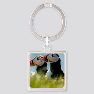 Puffin Pair 14x14 600 dpi Square Keychain