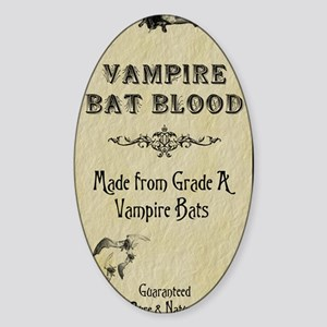 BatBloodinvitation_4x925_vertical c Sticker (Oval)