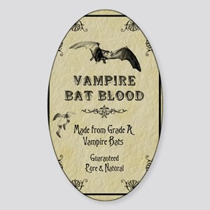 2-BatBloodLabelTall copy Sticker (Oval)