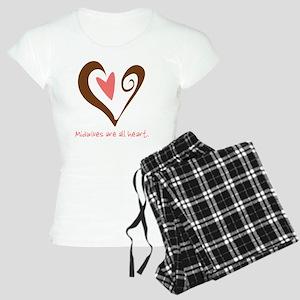 2-MidwivesHeartBrown Women's Light Pajamas