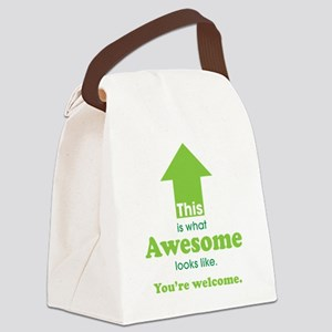 Awesome_lime Canvas Lunch Bag