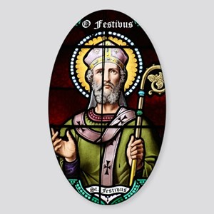 St_FESTIVUS™_card Sticker (Oval)