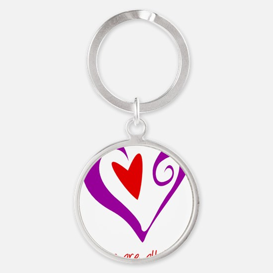 DoulaHeartRect Round Keychain