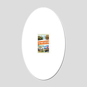 hawaii 20x12 Oval Wall Decal