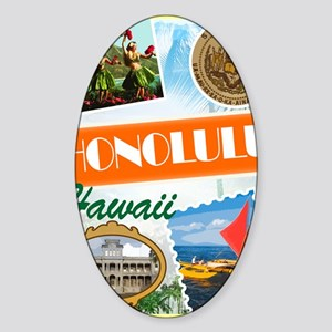 hawaii Sticker (Oval)