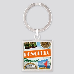 hawaii Square Keychain