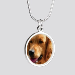 goldens Silver Round Necklace
