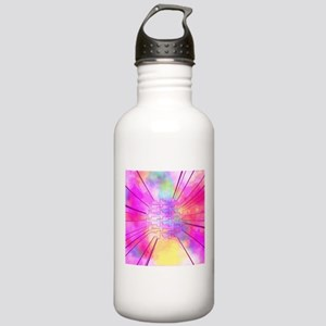 happy colors pink Water Bottle