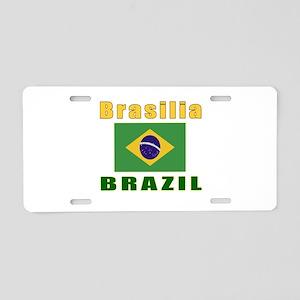Brasilia Brazil Designs Aluminum License Plate