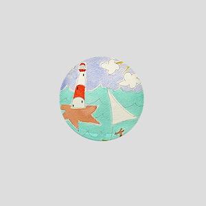 sunny sailing dog greeting card 300dpi Mini Button