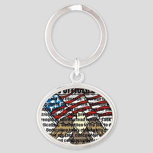 POPRAYERflag2 Oval Keychain