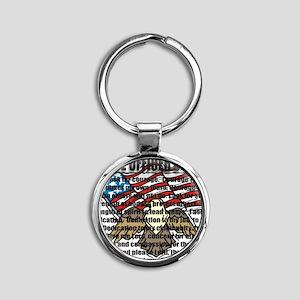 POPRAYERflag2 Round Keychain