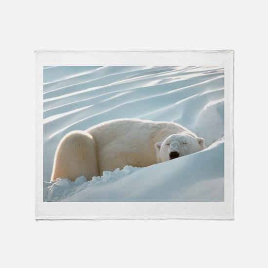 Sleeping Polar Bear Throw Blanket