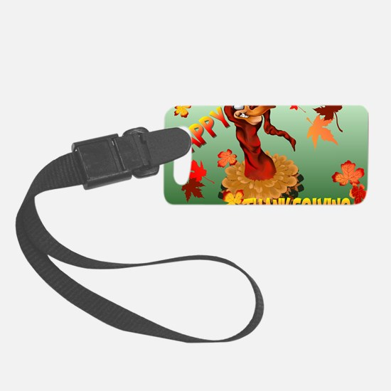 Thanks Giving Turkey and Autumn  Luggage Tag