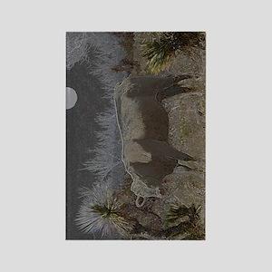 desert solitude Rectangle Magnet