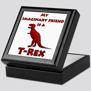 2-Imaginary T-Rex white Keepsake Box