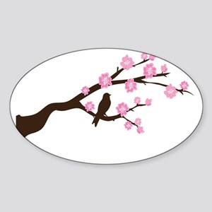 cherry blossoms 3 Sticker (Oval)