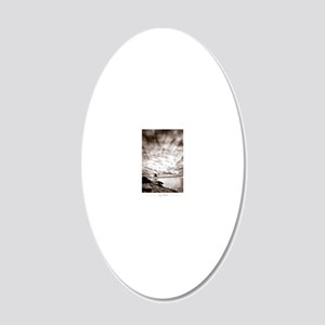Castle-Hill-Lighthouse 20x12 Oval Wall Decal