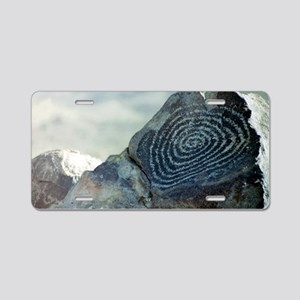 Spiral Petroglyph Aluminum License Plate