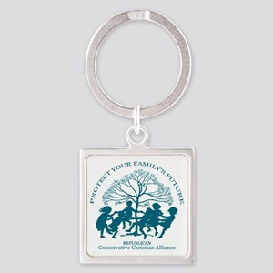 Conservative Christian Alliance Square Keychain