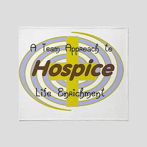 Hospice a team approach Throw Blanket