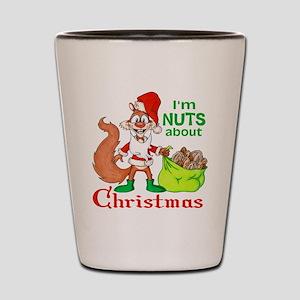 SantaSquirrelNUTS Shot Glass