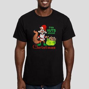 SantaSquirrelNUTS Men's Fitted T-Shirt (dark)