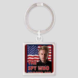 The Spy Who Kissed Me notecard Square Keychain