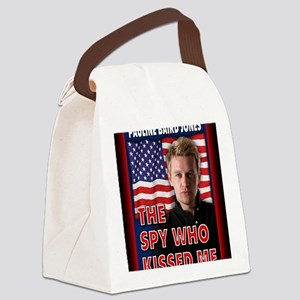 The Spy Who Kissed Me notecard Canvas Lunch Bag