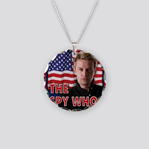 The Spy Who Kissed Me noteca Necklace Circle Charm