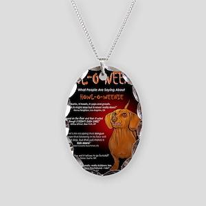 howloweeniecard1 Necklace Oval Charm