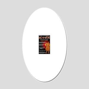howloweeniecard1 20x12 Oval Wall Decal