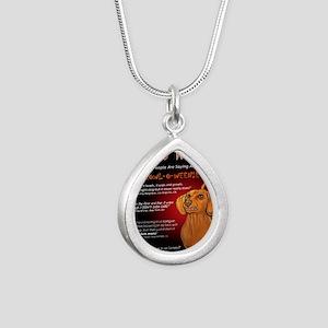 howloweeniecard1 Silver Teardrop Necklace