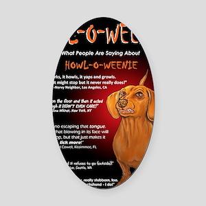 howloweeniecard1 Oval Car Magnet