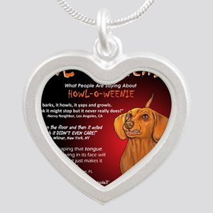 howloweenie10x10 Silver Heart Necklace