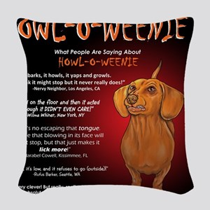howloweenie10x10 Woven Throw Pillow