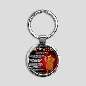 howloweenie10x10 Round Keychain