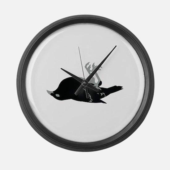 Dead RAVEN Large Wall Clock