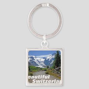 cover switzerland calendar Square Keychain