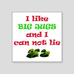 """big jugs Square Sticker 3"""" x 3"""""""